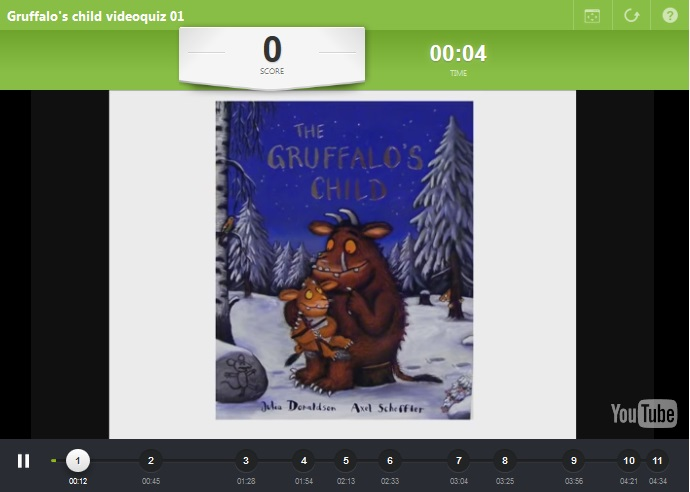 3rd Grade: The Gruffalo's child video quiz 01